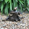 Lovers Embrace Solid Bronze Sculpture on gravel (1) | Avant Garden