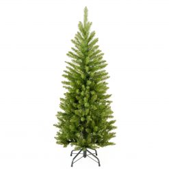 KW7-500-45 Munich 4' Unlit Hinged Pencil Green Fir Artificial Christmas Tree 1 | Avant Garden