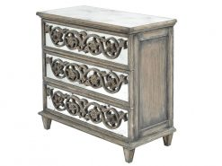Roxborough Mindi Three Drawer Chests Pair