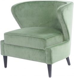 Libra Company Curve Occasional Chair Sage Green Cotton Velvet
