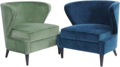 Curve Occasional Chair Sage Green Cotton Velvet