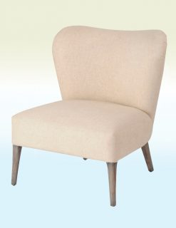 Libra Company Homestead Cream Linen Occasional Chair - Set of Two