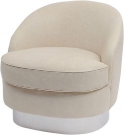 Libra Company Gatsby Wooster Cappuccino Leather Occasional Chair Large