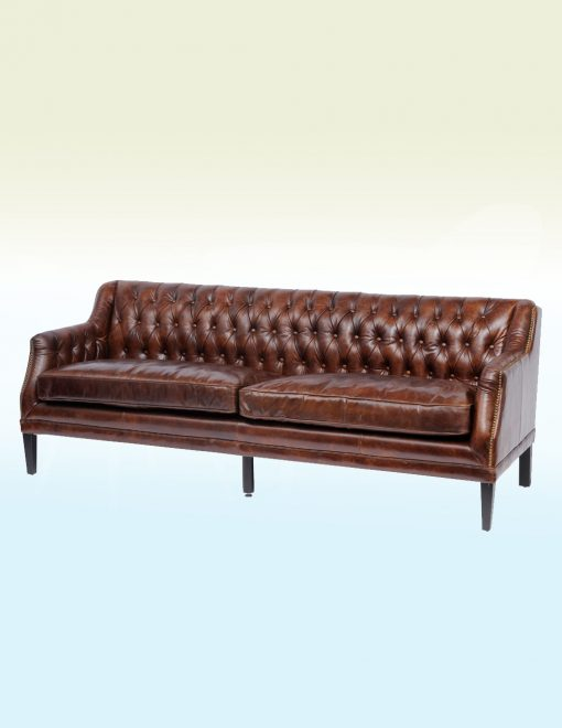Libra Company 701212 Halcyon Vintage Brown Three Seater Sofa 1 Avant Garden