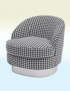 Libra Company Halcyon Houndstooth Linen Occasional Chair Set of Two