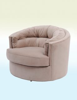 Libra Company Gatsby Jeeves Swivel Chair Velvet Taupe - Set of Two