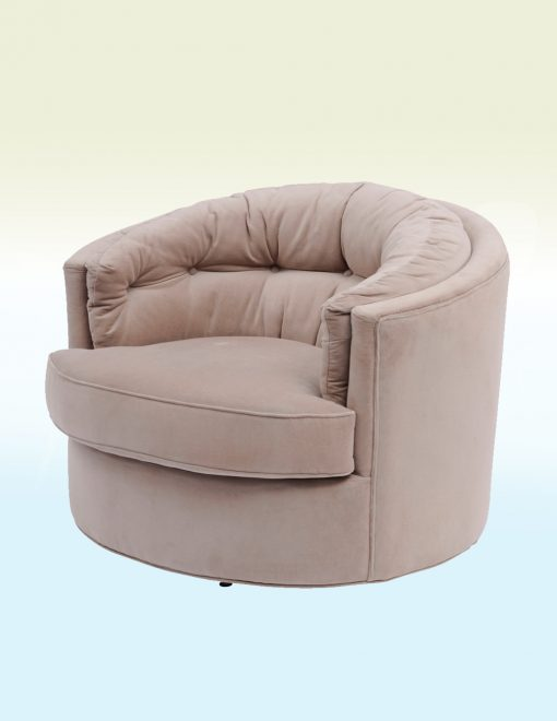 Libra Company 701218 Gatsby Collection Jeeves Swivel Chair Velvet Taupe 1 Avant Garden