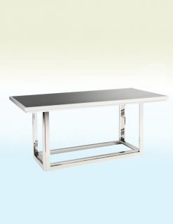 Gatsby Dining Table in Silver & Black