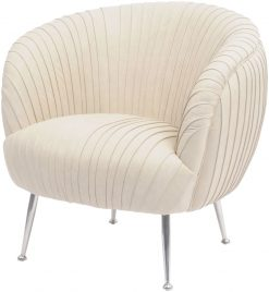 Libra Company Gatsby Pleated Cappuccino Leather Occasional Chair