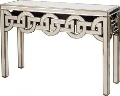 Claridge Art Deco Style Console and Matching Mirror