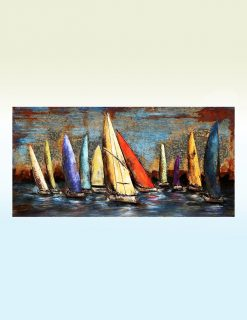 MEAR 22 3D Metal Wall Art Sail Boats Sculpture 1 Avant Garden Guernsey