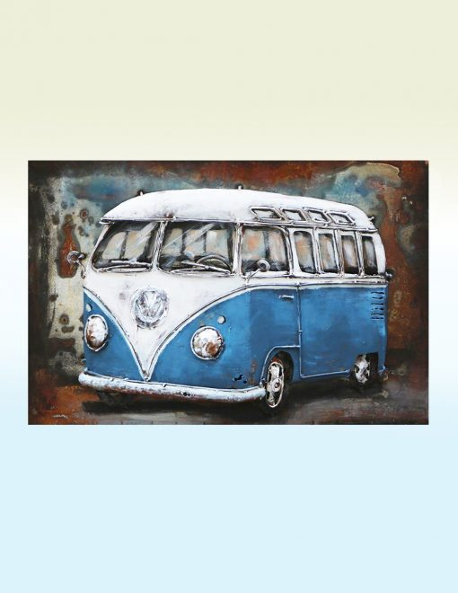 MEAR 26 3D Metal Wall Art VW Bus Sculpture 1 Avant Garden Guernsey