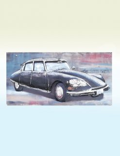 MEAR 46 3D Metal Wall Art Citroen Car Sculpture 1 Avant Garden Guernsey