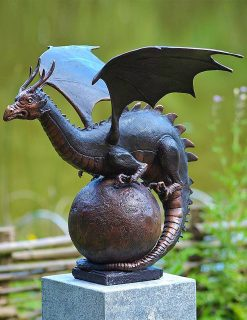 MI 7 Bronze Dragon Fountain Finial Sculpture Garden Ornament 1 | Avant Garden