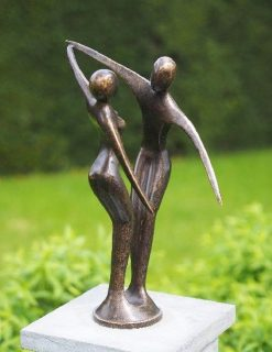 MO 27 Fine Cast Solid Bronze Sculpture Modern Dancing Couple 2 | Avant Garden