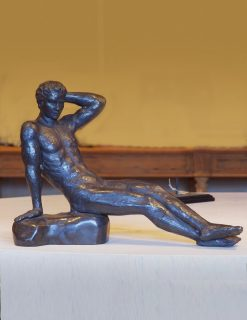 FIME 23 Solid Bronze Naked Man Lying 1 | Avant Garden
