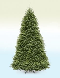 Basel Slim Frosted Fir Artificial Christmas Tree??- 10ft