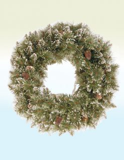 Rosenheim Sparkling Pine Christmas Wreath - 24in