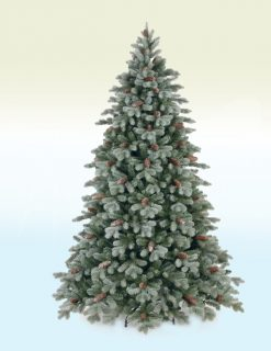 Heidelberg 7.5ft Frosted Artificial Christmas Tree - Real Feel