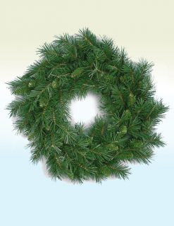 Alsace Pine Christmas Wreath - 24in
