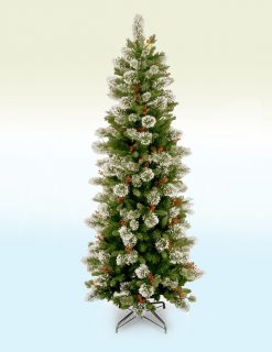Stuttgart Pine Slim Artificial Christmas Tree - 6.5ft