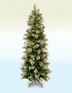 Stuttgart Pine Slim Artificial Christmas Tree - 7.5ft