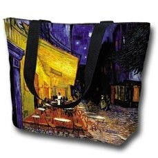 Tote Bag Large Cafe Terrace at Night by Van Gogh