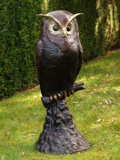 BI 12 Solid Bronze Owl On Rock Sculpture 114cm 7 | Avant Garden