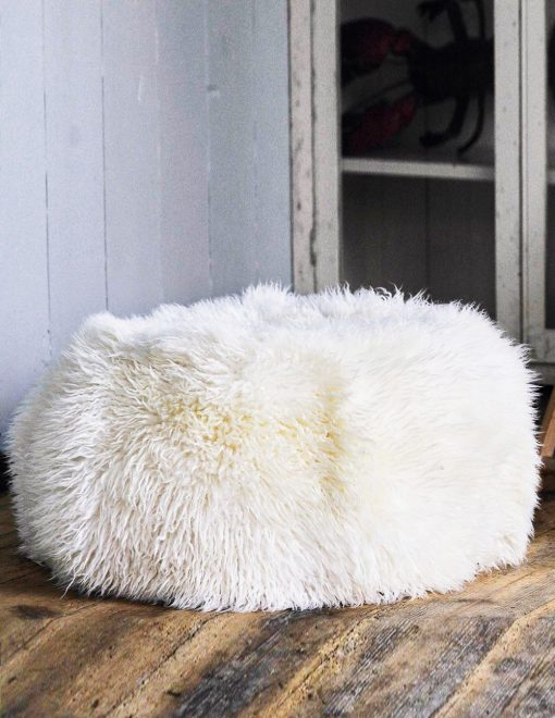 Owen Barry Sheepskin Pouffee Long Wool Luxe 1