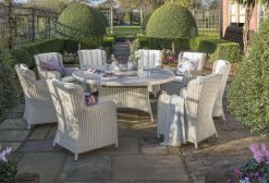 Sevillia 1.8m Round Dining Suite 8 Chairs