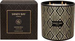 Sandy Bay London 4 Wick Hurricane Candle Winter Spice