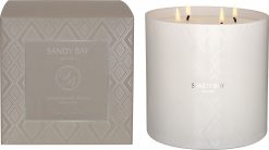 Sandy bay London 4 Wick Hurricane Candle Pomegranate Rouge