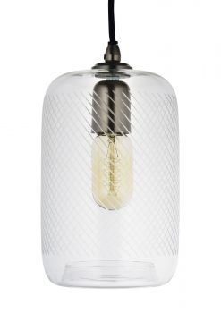 Traverse Pendant Ceiling Barrel 27cm Hand Cut Glass Shade