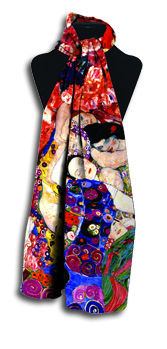 Long The Virgin The Dancer by Klimt Scarf