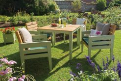 English Garden Range Dining Set Natural Green
