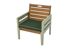 English Garden Range Lounge Chair with Pad Natural Green