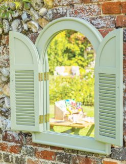 90019 Outdoor Arch Mirror Natural English Garden Range 1 | Avant Garden