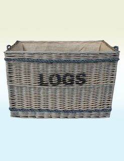 W060 Kinloss Ex Large Antique Wash Log Basket 1 Avant Garden Guernsey