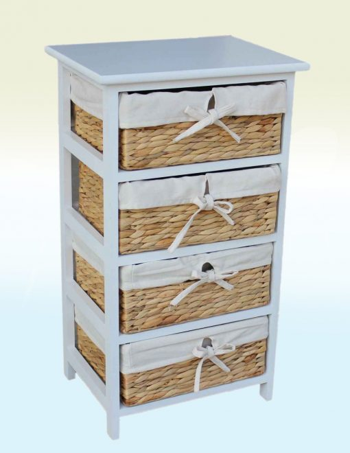 WH014 Willow Direct Tyrie Four Basket Wooden Unit 1 Avant Garden Guernsey