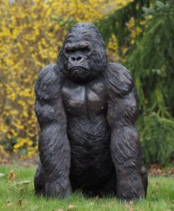 Fine Cast Bronze Sculpture Gorilla King Kong 121cm high