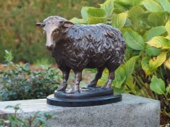 Fine Cast Bronze Sculpture Standing Sheep 35cm High