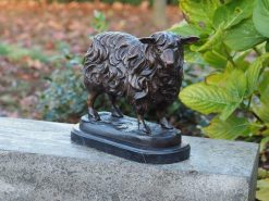 Fine Cast Bronze Sculpture Standing Sheep 25cm high