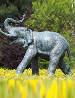 WI 42 Solid Bronze Fountain Elephant Sculpture 1 | Avant Garden