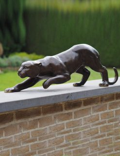 WI 50 Solid Bronze Black Panther Sculpture 1 | Avant Garden
