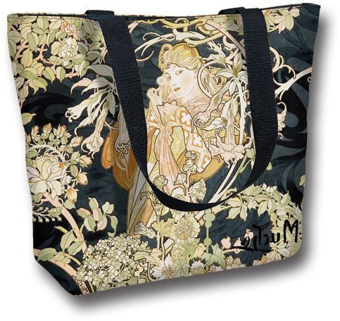 Tote Bag Large Woman with Daisies by Mucha - Avant-Garden UK 86548a51b15f3