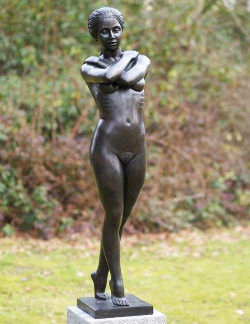 FIWO 32 Solid Bronze Nude Sculpture Arms Folded 1 | Avant Garden