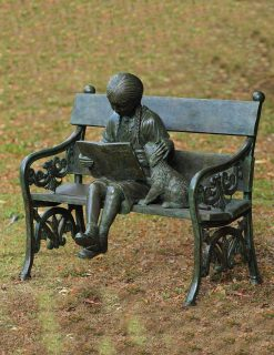 FIGI 3 Solid Bronze Girl On Bench 1 | Avant Garden
