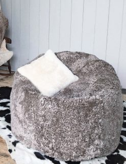 Owen Barry Interiors Luxurious Taupe Swedish Sheepskin Beanbag Large | Avant Garden Guernsey