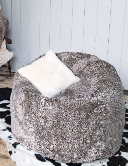 Owen Barry Interiors Luxurious Taupe Swedish Sheepskin Beanbag Large 1 | Avant Garden Guernsey