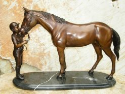 Bronze Sculpture Horse Girl